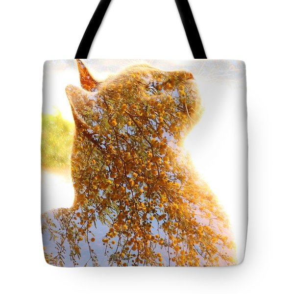 Tree In Cat Tote Bag