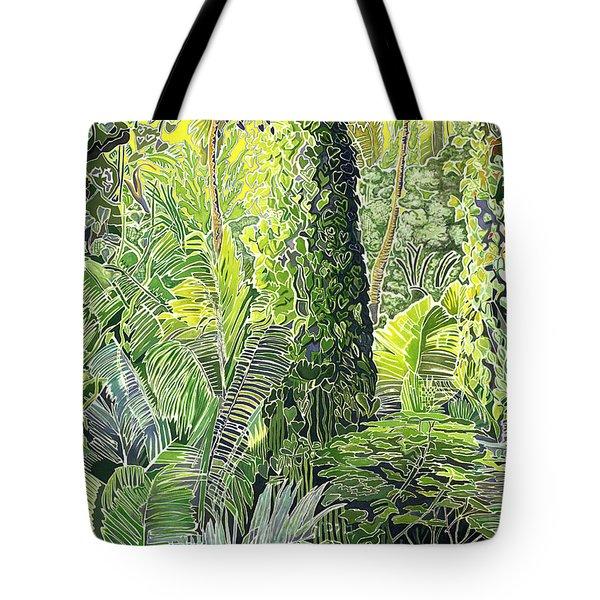 Tree In Garden Tote Bag by Fay Biegun - Printscapes