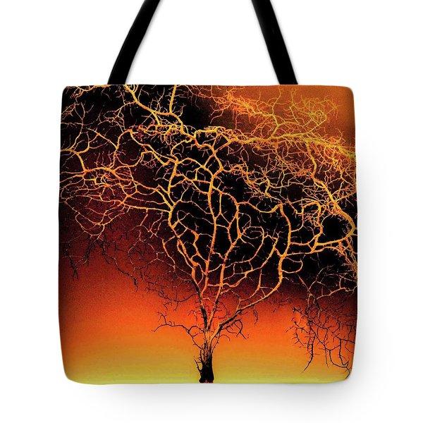 Tree In Light Tote Bag