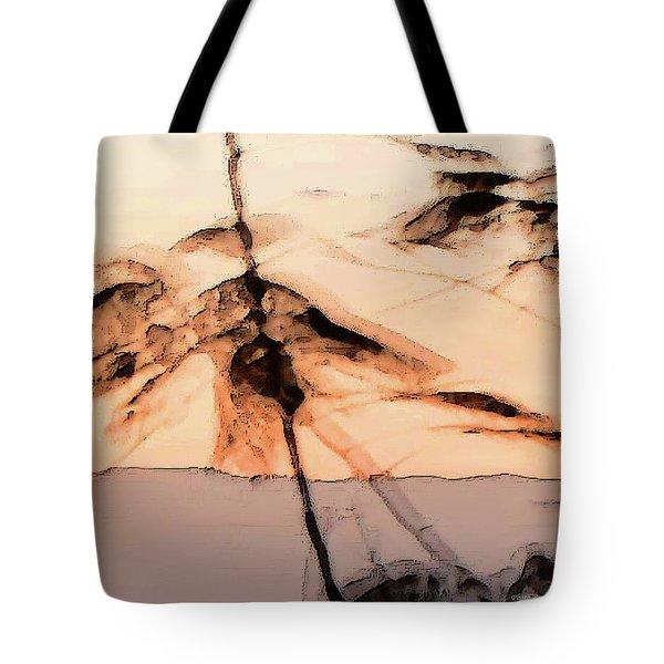 Tree In Morning Tote Bag