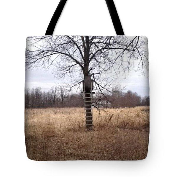 Tree In Novemer Tote Bag