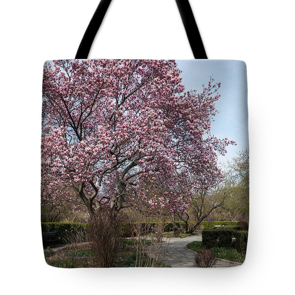 Tree In Pink Tote Bag