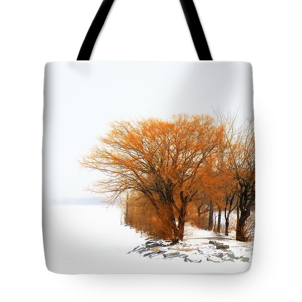 Tree In The Winter Tote Bag