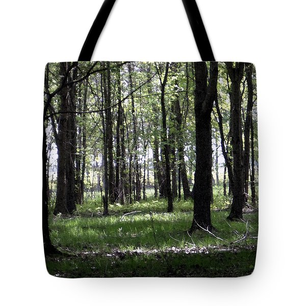 Tote Bag featuring the photograph Tree In The Woods by Michelle Audas