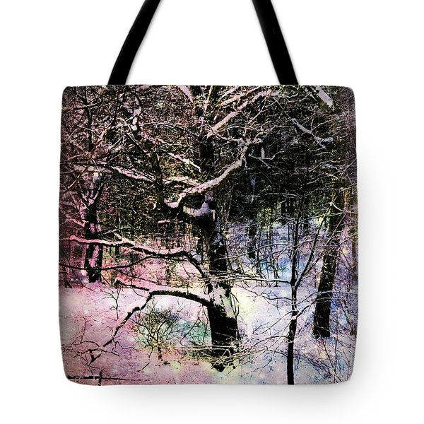 Tote Bag featuring the photograph Tree In Winter by Robin Regan