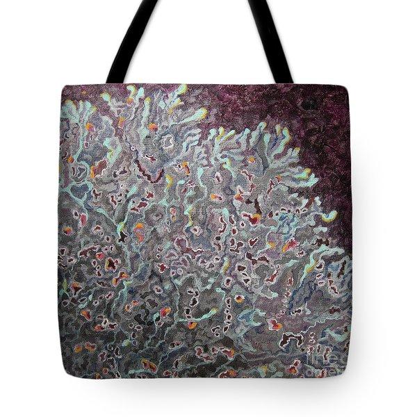 Tree Lichen Tote Bag by Anne Havard