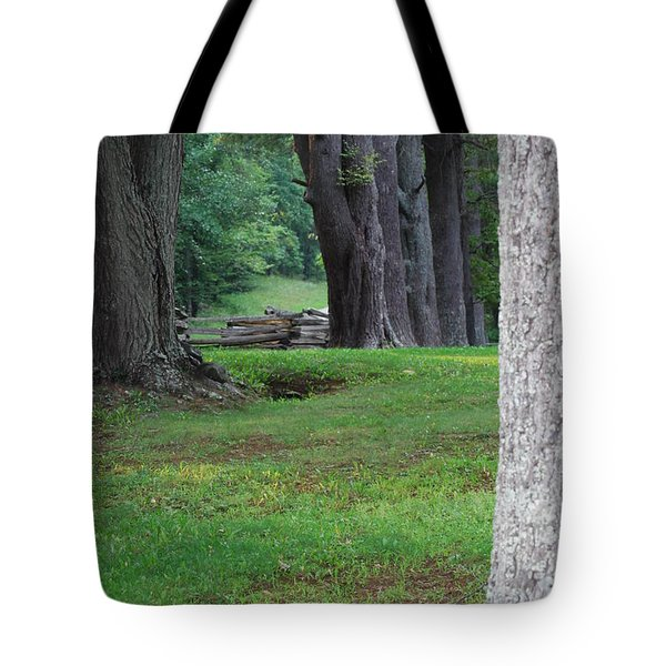 Tote Bag featuring the photograph Tree Line by Eric Liller