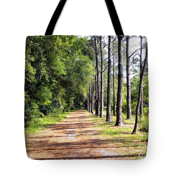 Tree Lined Path Tote Bag