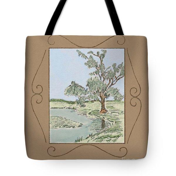 Tree Mirror In Lake Tote Bag