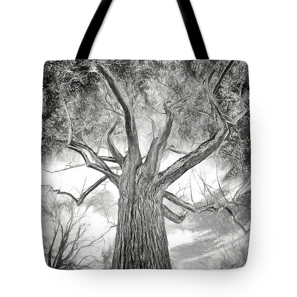 Tree Monster Bw Ap Tote Bag