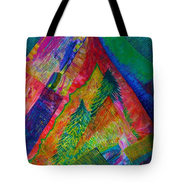 Tote Bag featuring the painting A Tree Motif by Polly Castor