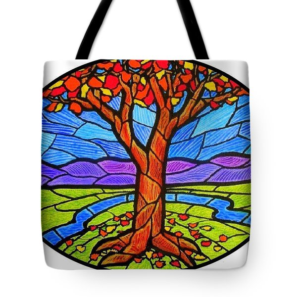 Tree Of Grace - Autumn Tote Bag by Jim Harris