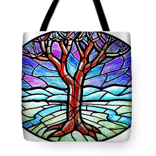 Tree Of Grace - Winter Tote Bag