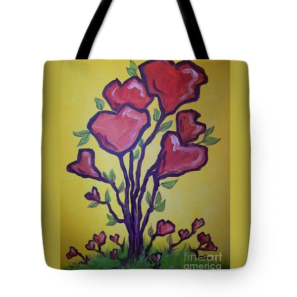Tree Of Hearts Tote Bag