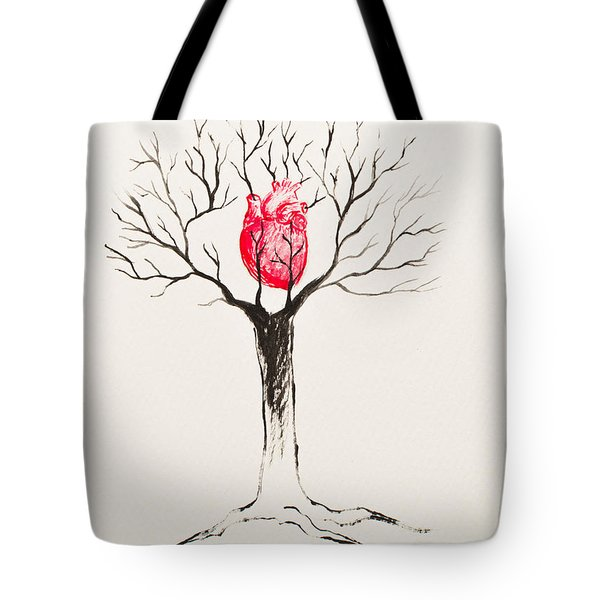 Tree Of Hearts Tote Bag by Stefanie Forck