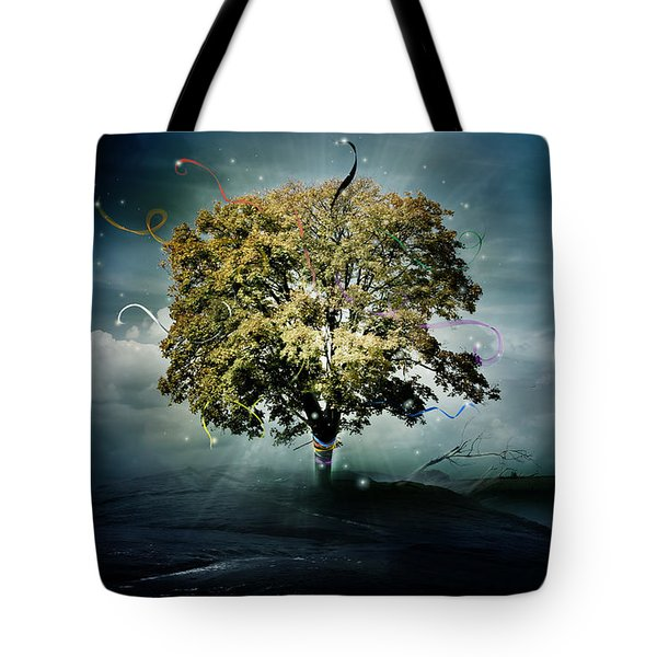 Tree Of Hope Tote Bag by Mary Hood