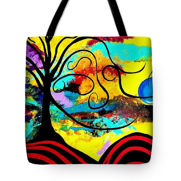 Tree Of Life Abstract Painting  Tote Bag