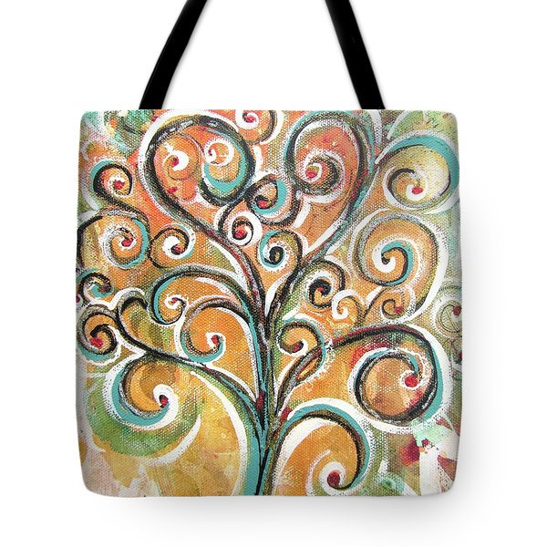 Tote Bag featuring the painting Tree Of Life by Chris Hobel