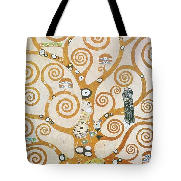 Tote Bag featuring the painting Tree Of Life Detail by Gustav Klimt
