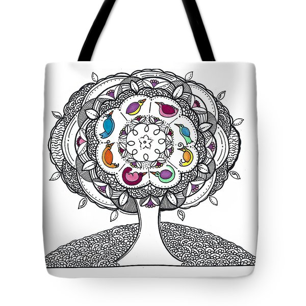 Tree Of Life - Ink Drawing Tote Bag