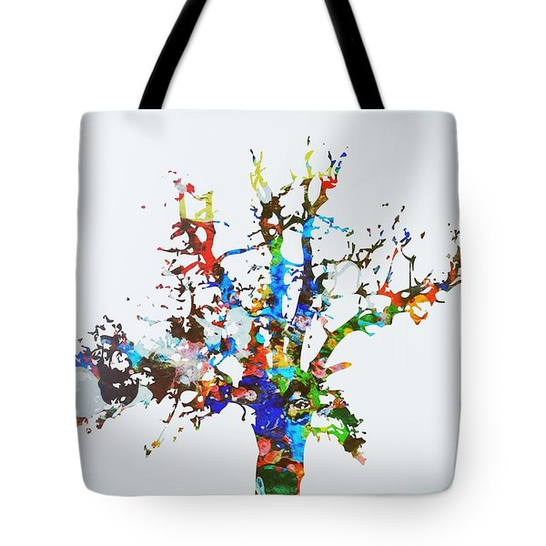 Tote Bag featuring the painting Tree Of Life by Mark Taylor