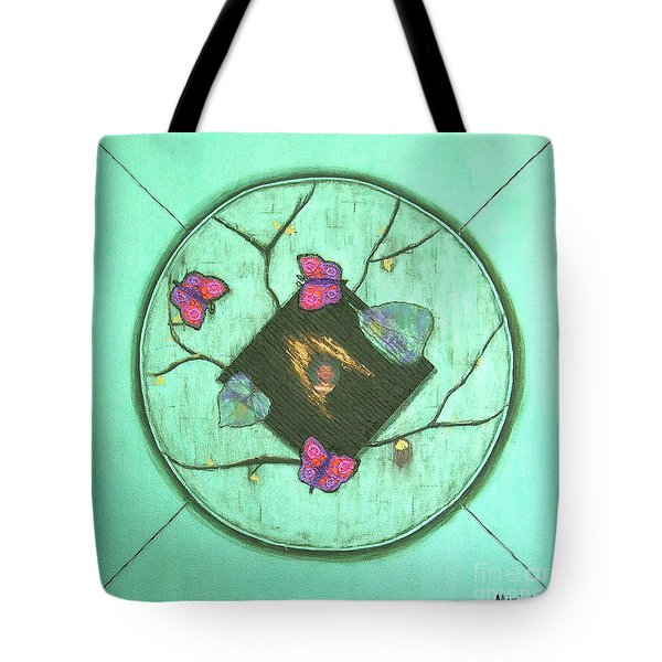 Tote Bag featuring the painting Tree Of Life by Mini Arora