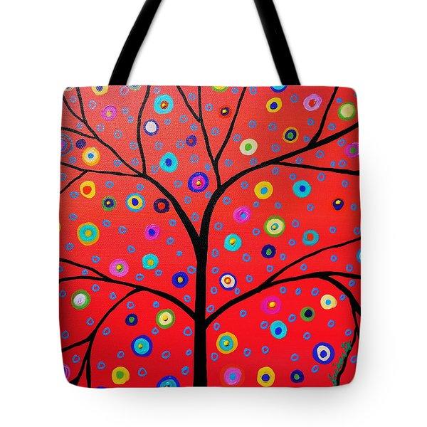 Tree Of Life Painting Tote Bag by Pristine Cartera Turkus