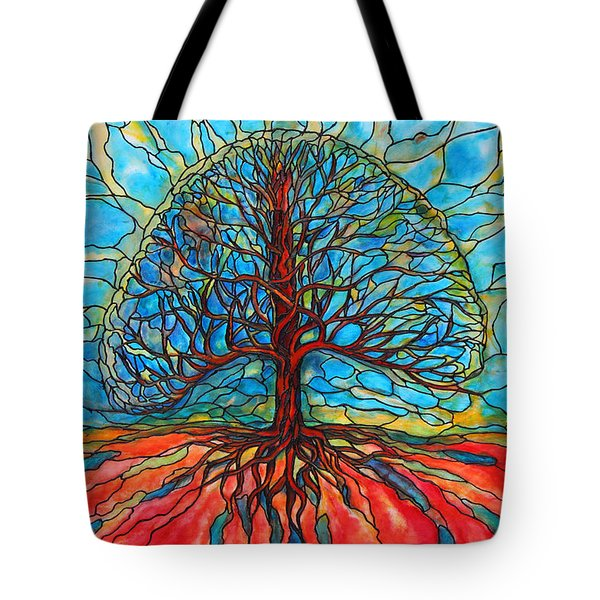 Tote Bag featuring the painting Tree Of Life by Rae Chichilnitsky