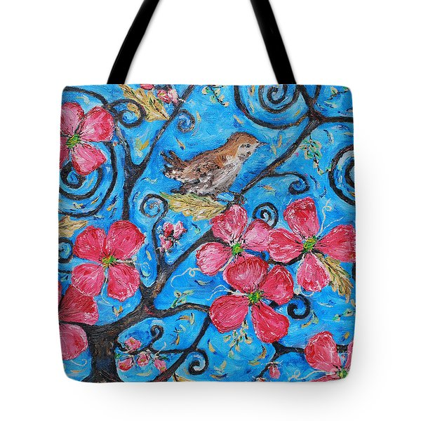 Tote Bag featuring the painting Tree Of Life by Reina Resto