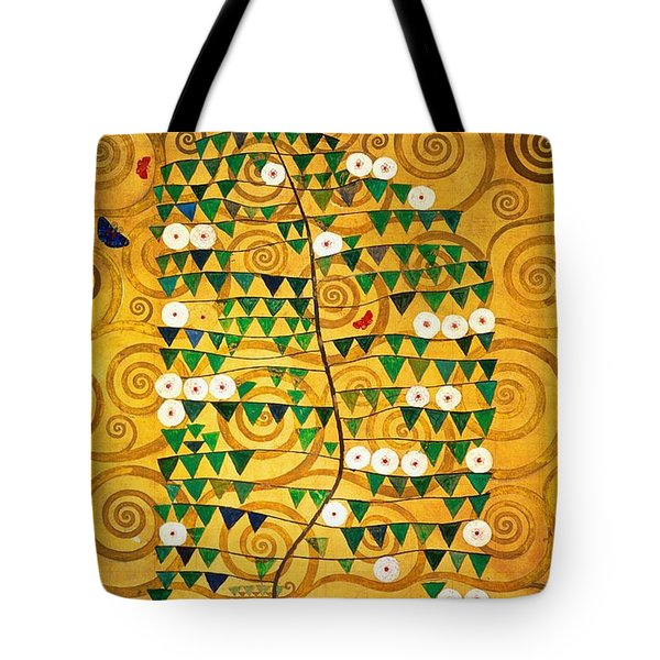 Tree Of Life Stoclet Frieze Tote Bag by Gustav Klimt