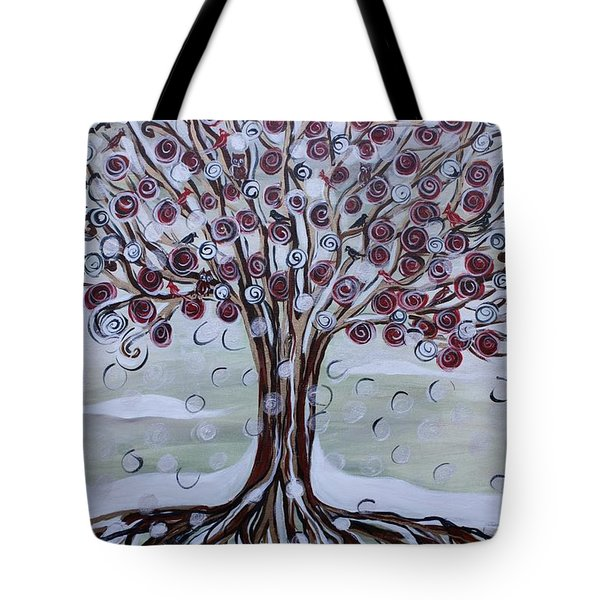 Tree Of Life - Winter Tote Bag