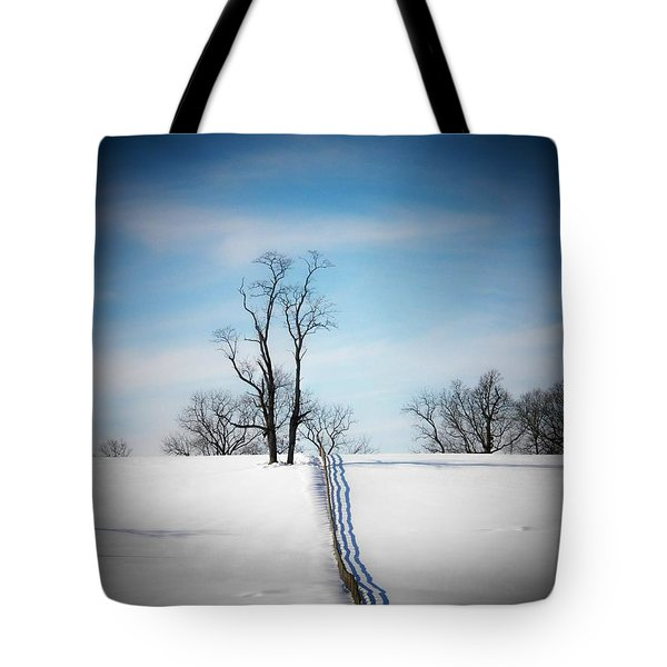 Tree On A Hill Tote Bag by Joyce Kimble Smith