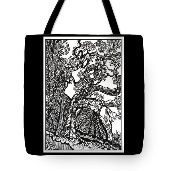 Tree On A Hillside Tote Bag