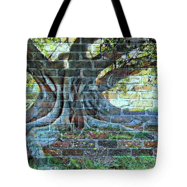 Tree On A Wall Tote Bag