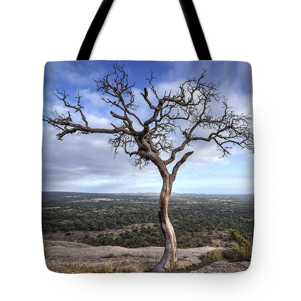 Tree On Enchanted Rock - Square Tote Bag
