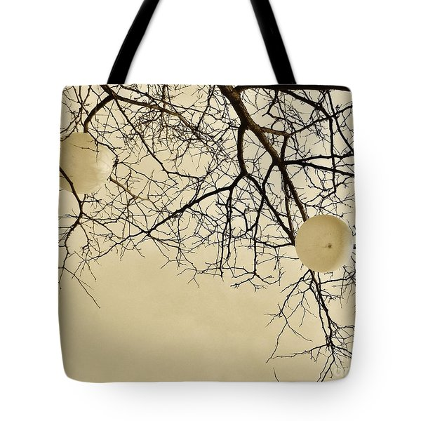Tree Orbs Tote Bag