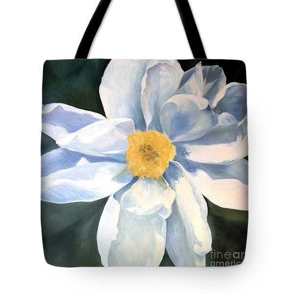 Tree Peony Tote Bag by Laurie Rohner