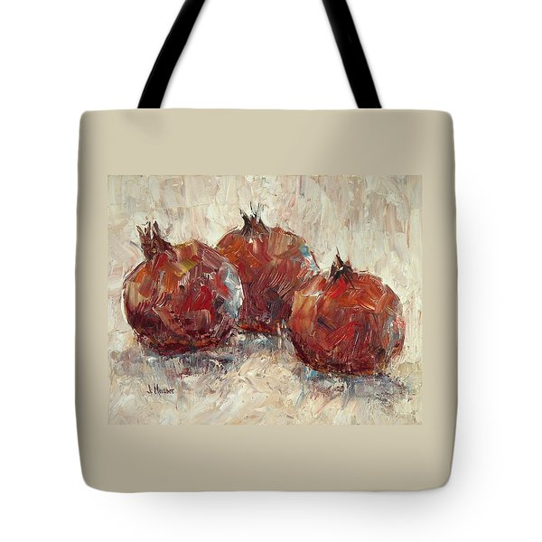 Three Pomegranates Tote Bag