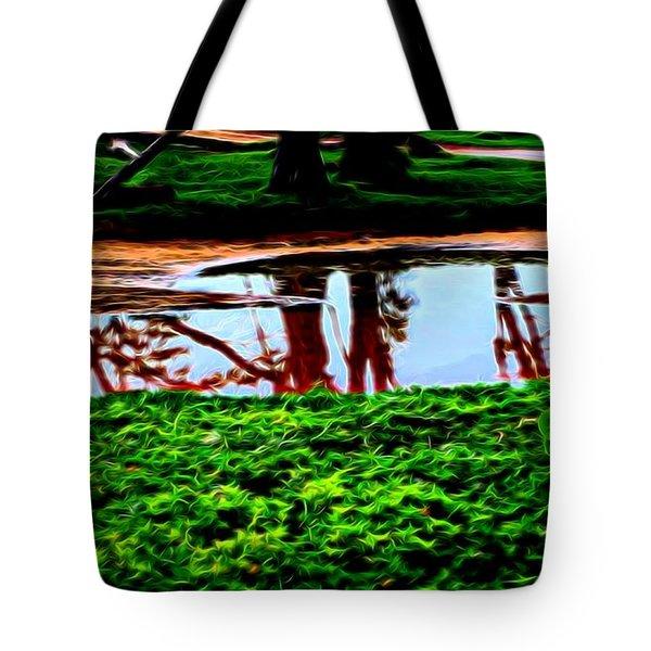 Tree Reflections Tote Bag