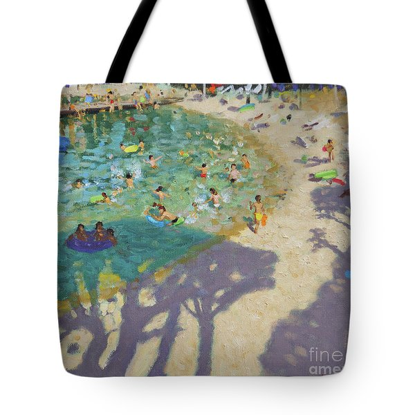 Tree Shadows, On The Beach, Near Rovinj Tote Bag