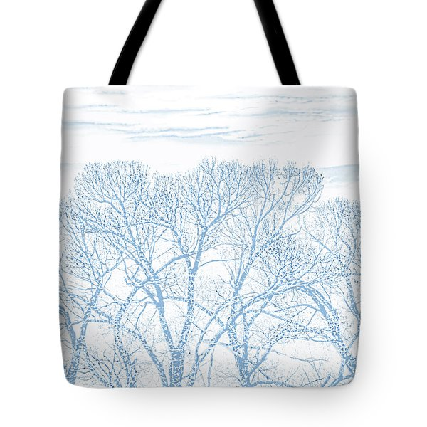 Tote Bag featuring the photograph Tree Silhouette Blue by Jennie Marie Schell