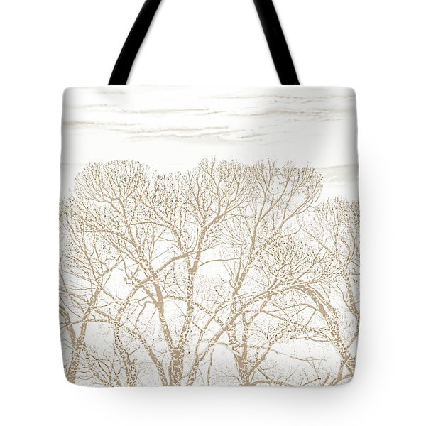 Tote Bag featuring the photograph Trees Silhouette Brown by Jennie Marie Schell