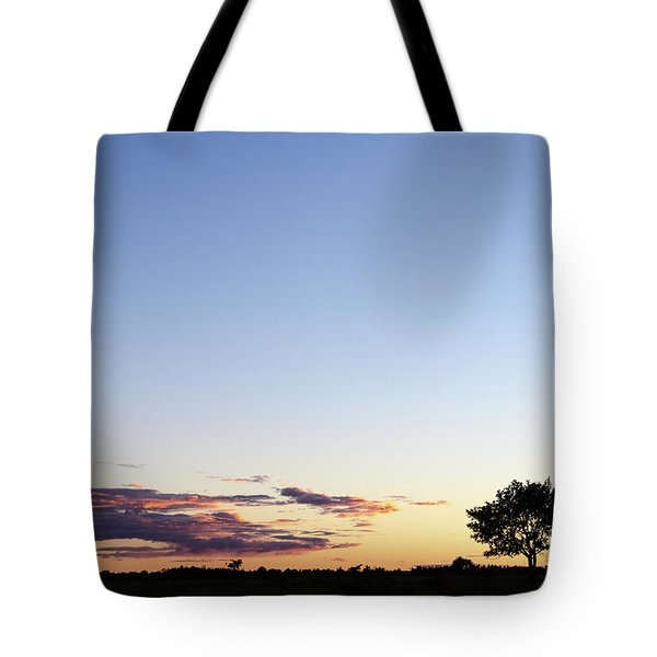 Tree Silhouette By Twilight Tote Bag