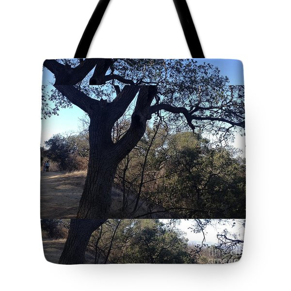 Tree Silhouette Collage Tote Bag by Nora Boghossian