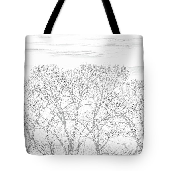 Tote Bag featuring the photograph Tree Silhouette Gray by Jennie Marie Schell