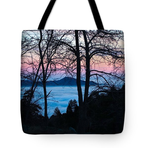 Tree Silhouettes On Troodos 2 Tote Bag