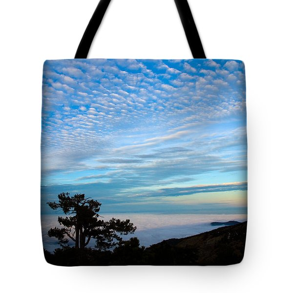 Tree Silhouettes On Troodos Tote Bag