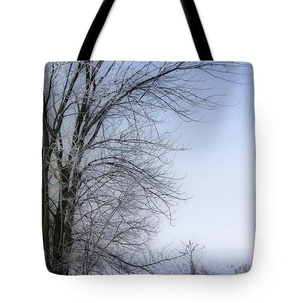 Tree-snow-fog Tote Bag by Deborah Benoit