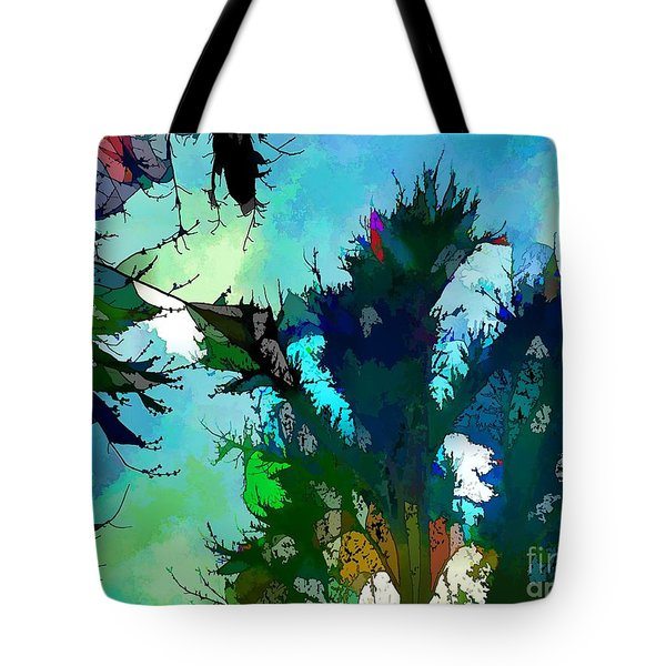 Tree Spirit Abstract Digital Painting Tote Bag