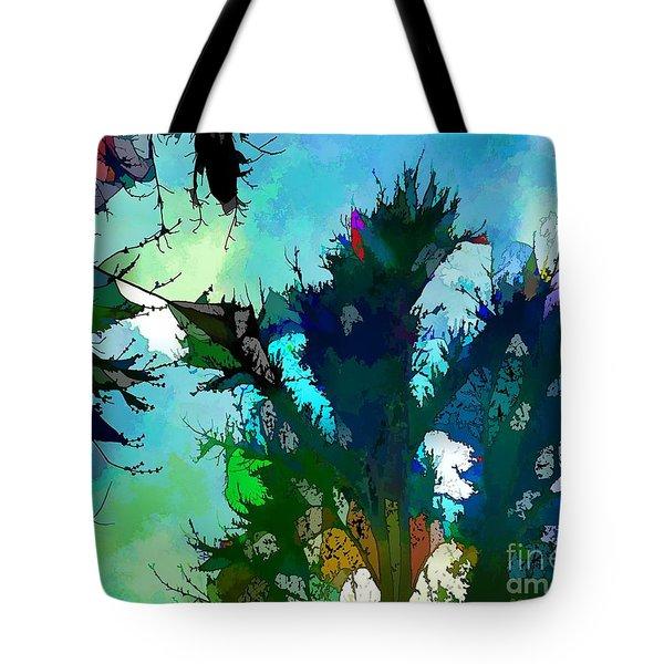 Tree Spirit Abstract Digital Painting Tote Bag